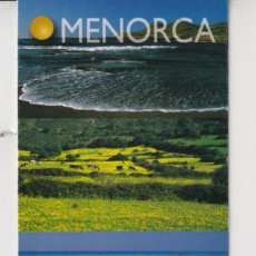 Coleccionismo Marcapáginas: MARCAPÁGINAS EDITOR LLUM DEL MEDITERANEO TUTULO DE MENORCA. Lote 277635648