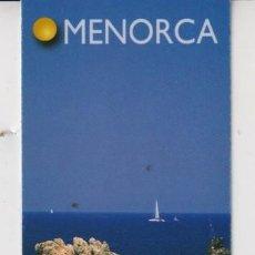 Coleccionismo Marcapáginas: MARCAPÁGINAS EDITOR LLUM DEL MEDITERANEO TUTULO DE MENORCA. Lote 277635878