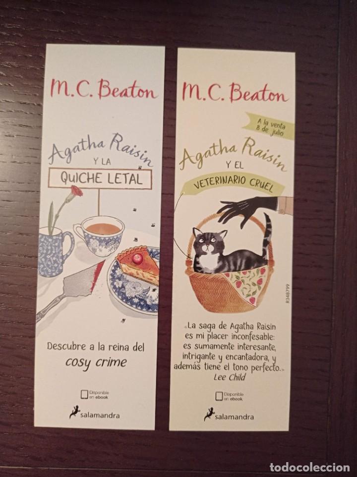 MARCAPÁGINAS. SALAMANDRA. M. C. BEATON. AGATHA RAISIN Y LA QUICHE LETAL (Coleccionismo - Marcapáginas)