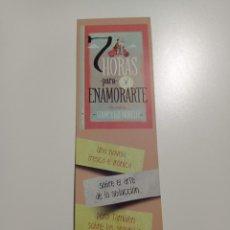 Coleccionismo Marcapáginas: MARCAPÁGINAS. ROCA EDITORIAL. GIAMPAOLO MORELLI. 7 HORAS PARA ENAMORARTE. Lote 284563303