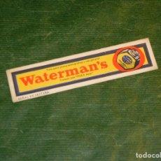 Collezionismo Segnalibri: ANTIGUO MARCAPAGINAS WATERMAN'S - WATERMAN - AÑOS 1950. Lote 284669928