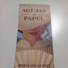 Coleccionismo Marcapáginas: MARCAPÁGINAS. MAEVA. MARTA GRACIA PONS. AGUJAS DE PAPEL. Lote 284773278