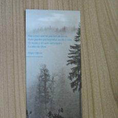 Coleccionismo Marcapáginas: MARCAPÁGINAS - ERRATA NATURAE EDITORES - LA ESCRITURA INDÓMITA - MARY OLIVER. Lote 287905223