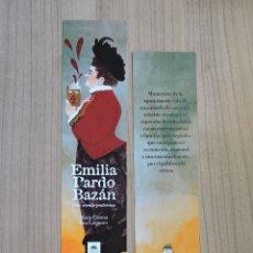 Coleccionismo Marcapáginas: MARCAPÁGINAS - BULULÚ CÓMIC - UNA MENTE PODEROSA - EMILIA PARDO BAZÁN. Lote 287910503