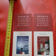 Coleccionismo Marcapáginas: MARCAPAGINAS EDITORIAL MR. PREMIO NOVELA HISTORICA ALFONSO X EL SABIO. 2007. CAJA CASTILLA LA MANCHA. Lote 288032823