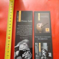 Coleccionismo Marcapáginas: MARCAPAGINAS EDITORIAL BELACQVA. DOCUMENTOS IAN THOMSON. PREMIO LEVI. AL PACINO. Lote 288033233