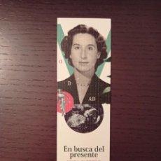 Coleccionismo Marcapáginas: MARCAPAGINAS. CUADERNOS DEL VIGIA. MADA CARREÑO. EN BUSCA DEL PRESENTE. Lote 288302903