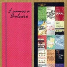 Coleccionismo Marcapáginas: MARCAPAGINAS ALFAGUARA - LEAMOS A BOLAÑO. Lote 288942378
