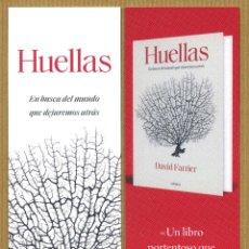 Coleccionismo Marcapáginas: MARCAPAGINAS CRITICA - HUELLAS. Lote 288942788