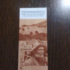 Coleccionismo Marcapáginas: MARCAPÁGINAS PAPERMANIATICS SANT FELIU DE GUÍXOLS. Lote 289523443