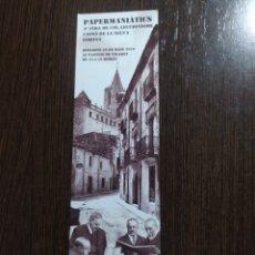 Coleccionismo Marcapáginas: MARCAPÁGINAS PAPERMANIATICS SANT FELIU DE GUÍXOLS. Lote 289523543