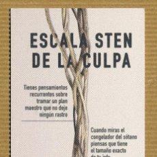 Coleccionismo Marcapáginas: MARCAPAGINAS MAEVA - ESCALA STEN DE LA CULPA. Lote 289898973