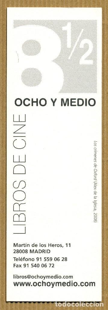Coleccionismo Marcapáginas: MARCAPAGINAS OCHO Y MEDIO - LIBROS DE CINE - Foto 2 - 293301198