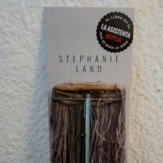Coleccionismo Marcapáginas: MARCAPAGINAS CRIADA-STEPHANIE LAND-CAPITAN SWING(A2). Lote 293861393