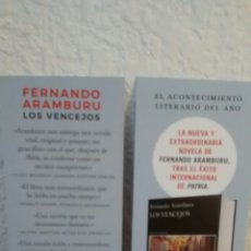 Coleccionismo Marcapáginas: MARCAPAGINAS LOS VENCEJOS -FERNANDO ARAMBURU-TUSQUETS(A1). Lote 293861588