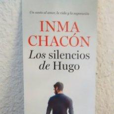 Coleccionismo Marcapáginas: MARCAPAGINAS LOS SILENCIOS DE HUGO-INMA CHACON-CONTRALUZ. Lote 293862198