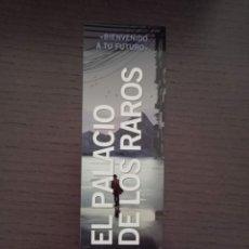 Coleccionismo Marcapáginas: MARCAPÁGINAS. NOCTURNA EDICIONES. JAMES DASHNER. EL PALACIO DE LOS RAROS. Lote 294097923
