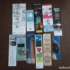Coleccionismo Marcapáginas: LOTE DE 12 MARCAPÁGINAS, PUNTOS DE LIBRO, DE PUBLICIDAD Y EDITORIALES.. Lote 294098683