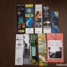 Coleccionismo Marcapáginas: LOTE DE 10 MARCAPÁGINAS, PUNTOS DE LIBRO, DE PUBLICIDAD Y EDITORIALES.. Lote 294098843