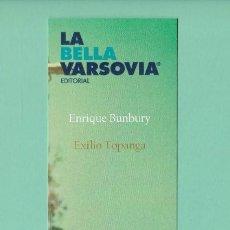 Coleccionismo Marcapáginas: MARCAPAGINAS EDITORIAL LA BELLA VARSOVIA EXILIO TOPANGA. Lote 294117078
