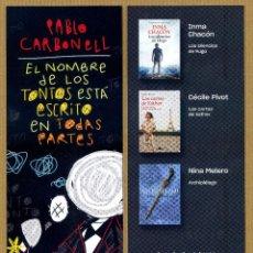Coleccionismo Marcapáginas: MARCAPAGINAS CONTRALUZ - EL NOMBRE DE LOS TONTOS ESTA ESCRITO..... Lote 295494918