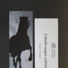Colecionismo Marcadores de página: MARCAPÁGINAS - HERMIDA EDITORES - CABALLO NEGRO CARBÓN - ROBERT OLMSTEAD. Lote 295729143