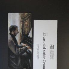 Colecionismo Marcadores de página: MARCAPÁGINAS - HERMIDA EDITORES - EL CASO DEL SEÑOR CRUMP - LUDWIG LEWISOHN. Lote 295729538