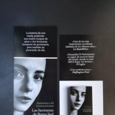 Coleccionismo Marcapáginas: MARCAPÁGINAS - DUOMO EDICIONES - LAS HERMANAS DE BORGO SUD - DONATELLA DI PIETRANTONIO. Lote 295840818