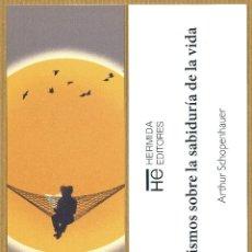 Coleccionismo Marcapáginas: MARCAPAGINAS HERMIDA EDITORES - AFORISMOS SOBRE LA SABIDURIA..... Lote 295864408