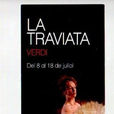 Coleccionismo Marcapáginas: MARCAPAGINAS, LICEU, OPERA DE BARCELONA. LA TRAVIATA DE VERDI.. Lote 297257918