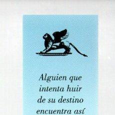 Coleccionismo Marcapáginas: MARCAPAGINAS, LOS PAPELES DE AGUA. ANTONIO GALA. PLANETA.. Lote 297258683