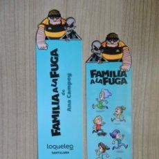 Coleccionismo Marcapáginas: MARCAPÁGINAS TROQUELADO - SANTILLANA LOQUELEO - FAMILIA A LA FUGA - ANA CAMPOY. Lote 297353028
