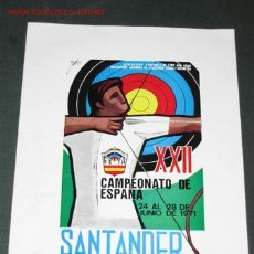 Coleccionismo deportivo: PROGRAMA DEL XXII CAMPEONATO DE ESPAÑA DE TIRO CON ARCO. SANTANDER 1971.. Lote 23229868