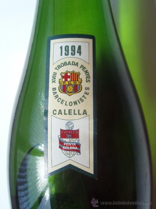 Coleccionismo deportivo: Bolella de Cava de la casa Canals y nubiola de la conmemoracion de la trubada de peñas Barcelonista - Foto 3 - 27524384