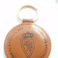 Coleccionismo deportivo: ANTIGUO LLAVERO DEL C.D. ZARAGOZA. Lote 25912873