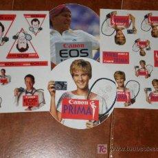 Coleccionismo deportivo: LOTE DE PEGATINAS DE MC ENROE Y MONICA SELES. Lote 26869202