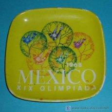 Coleccionismo deportivo: CENICERO XIX OLIMPIADA MEXIXO 1968. MATERIAL PLÁSTICO. Lote 26120517