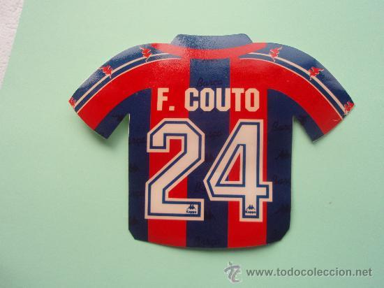 ANTIGUA PEGATINA CAMISETA DE F. COUTO (Coleccionismo Deportivo - Merchandising y Mascotas - Otros deportes)
