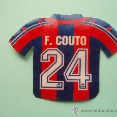 Coleccionismo deportivo: ANTIGUA PEGATINA CAMISETA DE F. COUTO. Lote 24880547