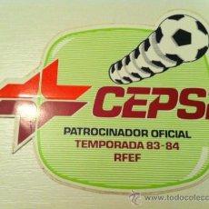 Coleccionismo deportivo: PEGATINA DE CEPSA PATROCINADOR LIGA 83,84. Lote 27205858
