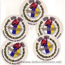 Coleccionismo deportivo: LOTE DE 5 PEGATINAS DE LA FEDERACION CANARIA DE MOTOCICLISMO.. Lote 26607256