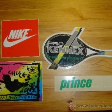 Collezionismo sportivo: LOTE 4 PEGATINAS MARCAS DEPORTIVAS NIKE, PRINCE, PRO KENNEX Y ALL STARS BY CONVERSE.. Lote 26599536