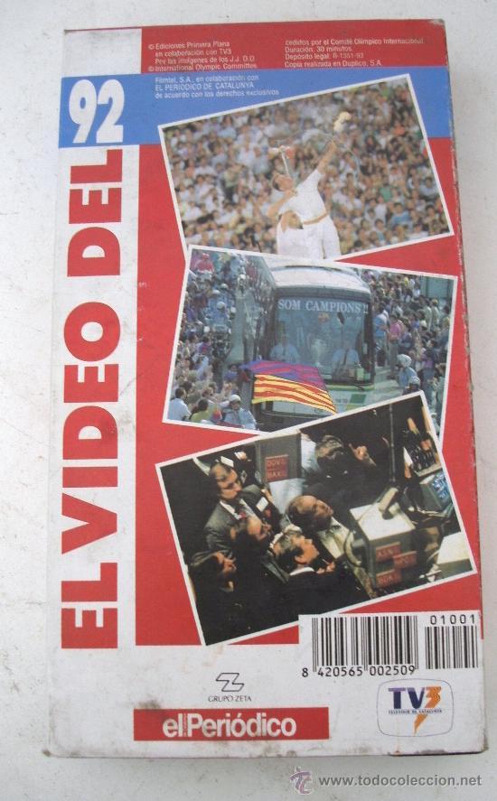 VIDEO VHS - EL VIDEO DEL 92 (Coleccionismo Deportivo - Merchandising y Mascotas - Otros deportes)