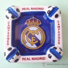 Coleccionismo deportivo: BONITO CENICERO DEL R.MADRID CAMPEONES. Lote 27488960