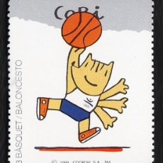 Coleccionismo deportivo: VIÑETA - OLIMPIADA BARCELONA 92 / JUEGOS OLIMPICOS - COBI - BASQUET / BALONCESTO - ED.COOB -AÑO 1988. Lote 27584600