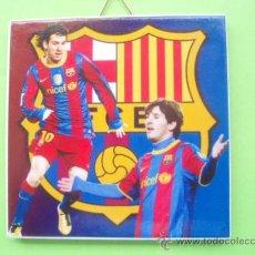 Coleccionismo deportivo: BONITO AZULEJO DEL F.C.BARCELONA LEO MESSI NUEVO. Lote 27633334