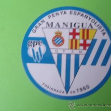 Coleccionismo deportivo: PEGATINA DE LA PEÑA ESPAÑOLISTA MANIGUA . Lote 27783259