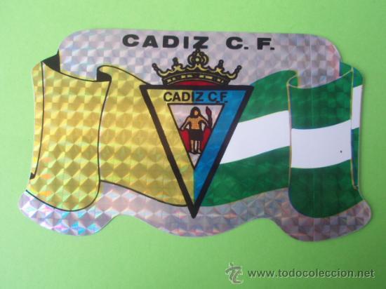 BONITA PEGATINA DEL CADIZ C.DE F. (Coleccionismo Deportivo - Merchandising y Mascotas - Otros deportes)