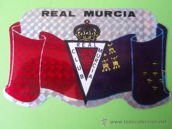 BONITA PEGATINA DEL R.C.D. MURCIA (Coleccionismo Deportivo - Merchandising y Mascotas - Otros deportes)