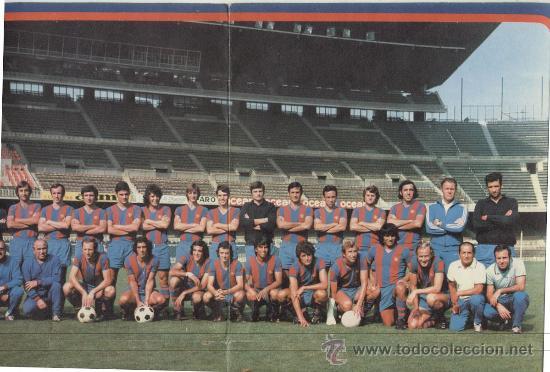 Coleccionismo deportivo: DISCO SINGLE 45 RPM CON DESPEGABLE / AZUL GRANA -CANTAN LOS JUGADORES DEL F.C.BARCELONA - Foto 3 - 27954810